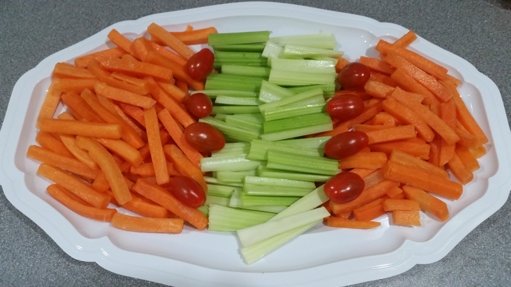 Buffet Catering - carrot, celery & tomatoes : set menu